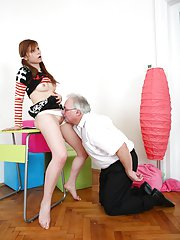 Get a load of the tricky old teacher and Miriam, getting it on bent over the desk. Theres no stopping this guy!