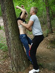 Against a tree, on the forest floor, it doesn't matter where he fucks her, he's just grateful he finally does get to fuck her